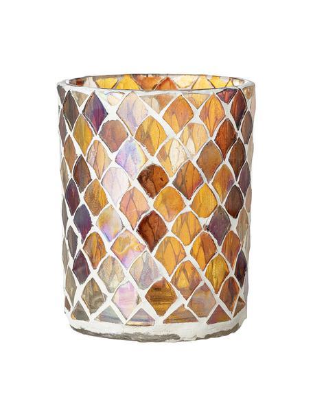 Waxinelichthouder Kama, Glas, Amberkleurig, transparant, Ø 8 x H 10 cm