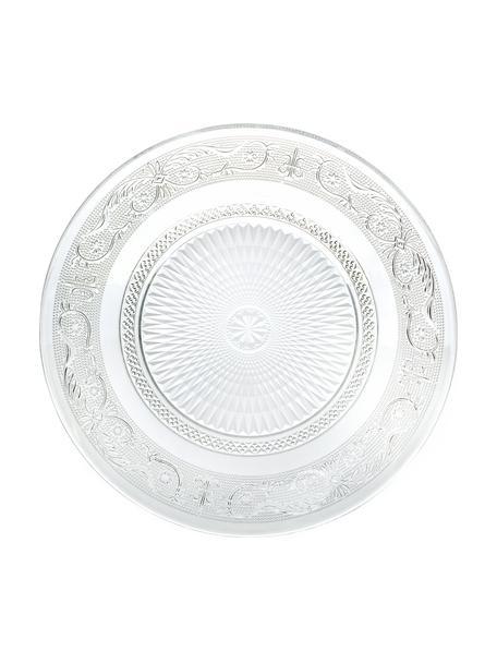 Glas-Platzteller Imperial, 3 Stück, Glas, Transparent, Ø 33 cm