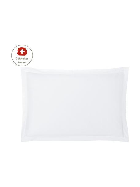 Baumwollsatin-Kissenbezug Premium in Weiss mit Stehsaum, 65 x 100 cm, Webart: Satin, leicht glänzend Fa, Weiss, 65 x 100 cm