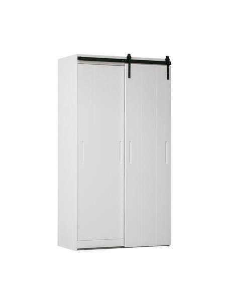 Kleiderschrank Luuk, Korpus: Kiefernholz, lackiert, Weiß, 115 x 218 cm