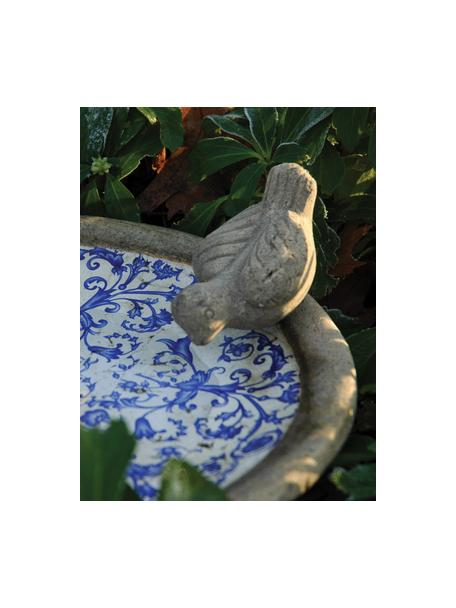 Vasca per uccelli in ceramica Adela, Ceramica, Blu, bianco, Ø 34 x Alt. 11 cm