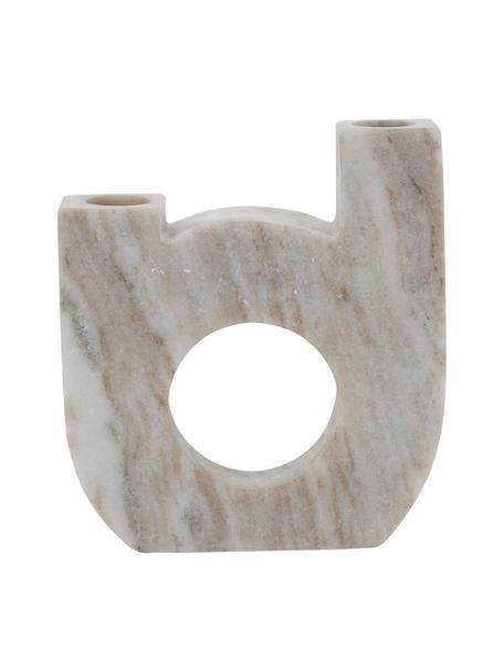 Kerzenhalter Arch Double aus Marmor, Marmor, Beige, 12 x 15 cm