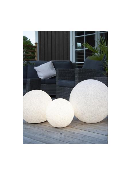 LED-vloerlamp Gardenlight met stekker, Lampenkap: kunststof, Wit, zwart, Ø 29 x H 30 cm