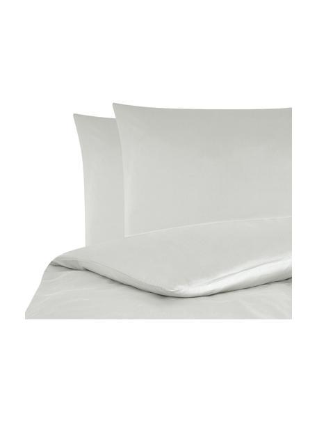 Parure copripiumino in raso di cotone Comfort, Grigio chiaro, 200 x 200 cm
