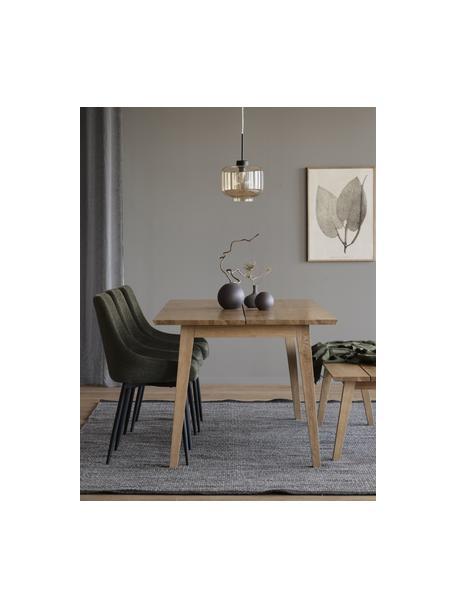 Gestoffeerde stoelen Sierra in groen, 2 stuks, Bekleding: 100% polyester, Poten: gepoedercoat metaal, Geweven stof groen, 49 x 55 cm