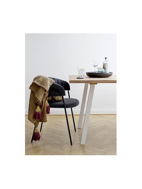 Serveerschaal Neri van keramiek, Ø 33 cm, Keramiek, Mat zwart, Ø 33 x H 6 cm