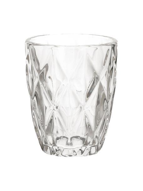Bicchiere acqua in vetro Diamond 6 pz, Vetro, Trasparente, Ø 8 x Alt. 10 cm