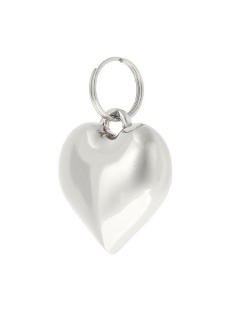Llaveros Charm Heart, 6uds., Metal, Plateado, Ø 2 x Al 3 cm