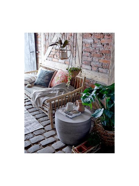 Großes Pflanztopf-Set Overo aus Terrakotta, 4-tlg., Übertopf: Terrakotta, Gestell: Rohrstock, Terrakottarot, Beige, 25 x 39 cm