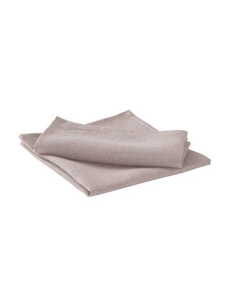 Leinen-Servietten Heddie in Rosa, 2 Stück, 100% Leinen, Rosa, 45 x 45 cm