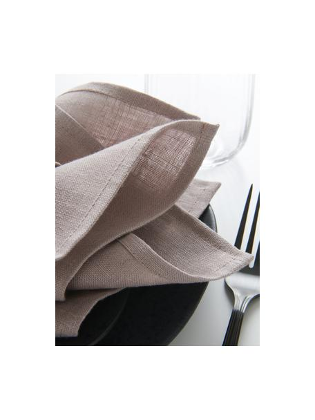 Tovagliolo in lino rosa Heddie 2 pz, 100% lino, Rosa, Larg. 45 x Lung. 45 cm