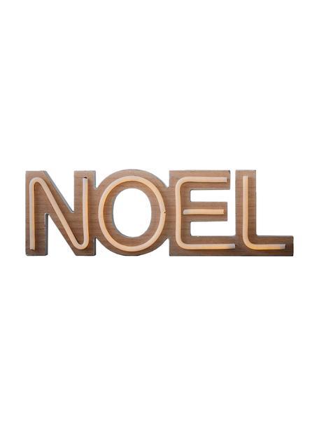 LED Leuchtobjekt Noel B 49 cm, batteriebetrieben, Kunststoff, Braun, 49 x 16 cm