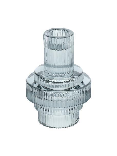 Kerzenhalter Danali in Grau, Glas, Transparent, Grau, Ø 9 x H 12 cm