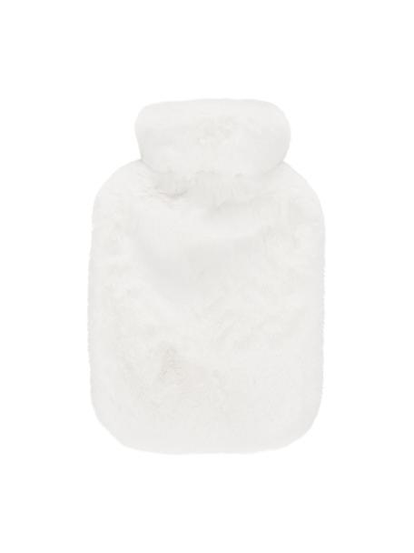 Borsa per acqua calda in ecopelliccia Mette, Rivestimento: 100% poliestere, Crema, Larg. 23 x Lung. 35 cm