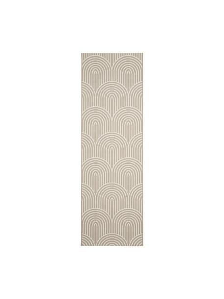 Passatoia da interno-esterno beige/bianco crema Arches, 86% polipropilene, 14% poliestere, Beige, bianco, Larg. 80 x Lung. 250 cm