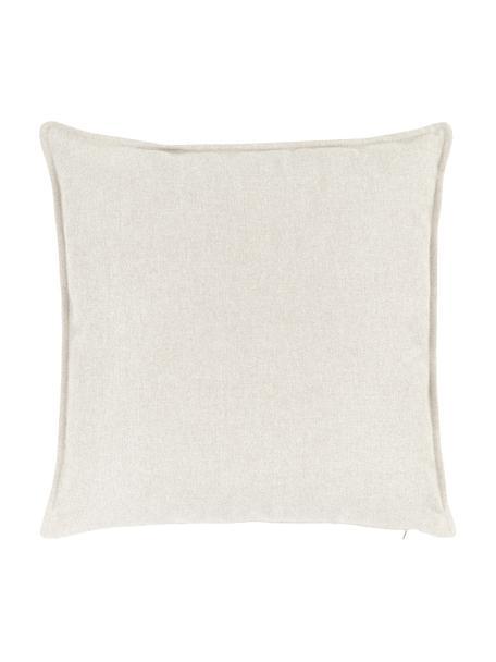 Cuscino arredo beige Lennon, Rivestimento: 100% poliestere, Beige, Larg. 60 x Lung. 60 cm