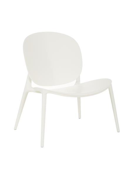 Loungefauteuil Be Bop van kunststof, Gemodificeerd polypropyleen, Wit, B 69  x D 62 cm