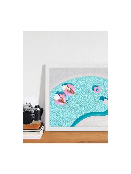Impresión digital enmarcada rosa Vacation, Multicolor, An 43 x Al 33 cm