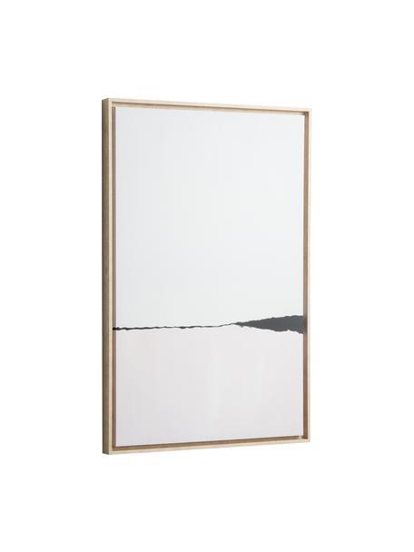 Gerahmter Digitaldruck Wrigley, Rahmen: Mitteldichte Holzfaserpla, Bild: Leinwand, Hellrosa, Schwarz, 60 x 90 cm