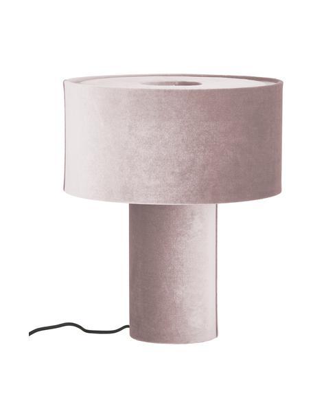 Lampa stołowa z aksamitu Frida, Blady różowy, Ø 30 x W 36 cm