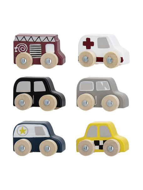 Seti di auto giocattolo in legno Car 6 pz, Pannelli di fibra a media densità (MDF), legno dell'albero del loto, Multicolore, Larg. 20 x Alt. 23 cm