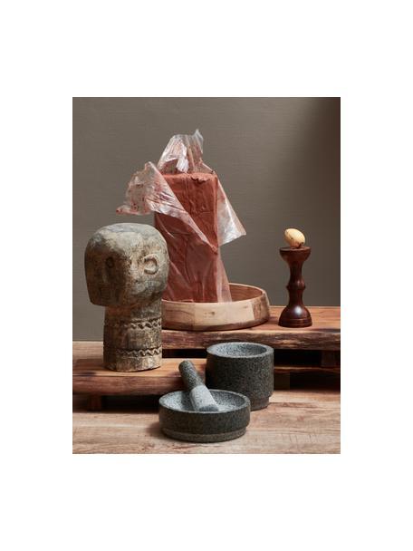 Granit-Mörser und Stößel Grido, Granit, Grau, marmoriert, Ø 19 x H 13 cm