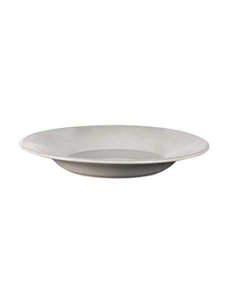 Piatto fondo grigio chiaro Constance 2 pz, Gres, Grigio chiaro, Ø 27 x Alt. 4 cm