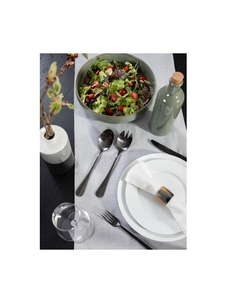 Zwarte saladebestekset Black van edelstaal, 2-delig, PVD gecoat edelstaal, Mat zwart, L 25 cm