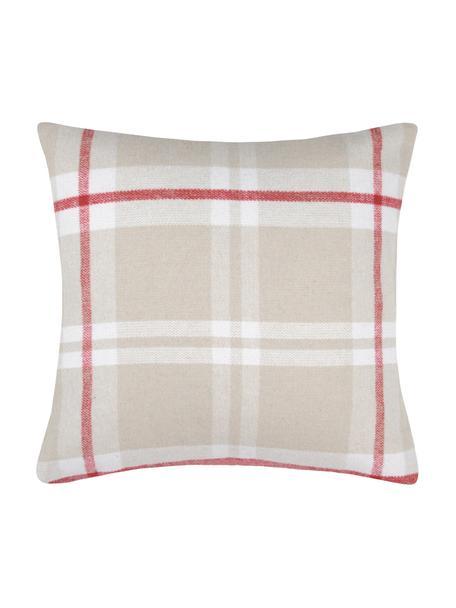 Poszewka na poduszkę Granier, 95% poliester, 5% wełna, Beżowy, biały, czerwony, S 40 x D 40 cm
