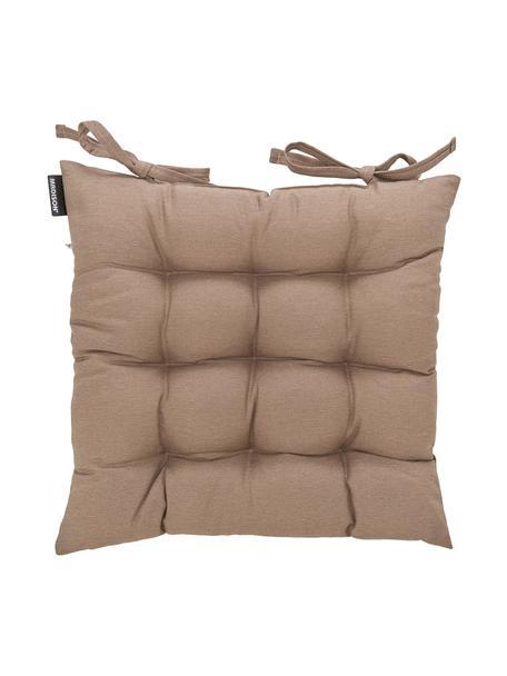 Poduszka na krzesło Panama, Tapicerka: 50% bawełna, 45% polieste, Taupe, S 45 x D 45 cm