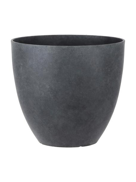 Großer Pflanztopf Bravo, Kunststoff, Anthrazit, Ø 37 x H 33 cm