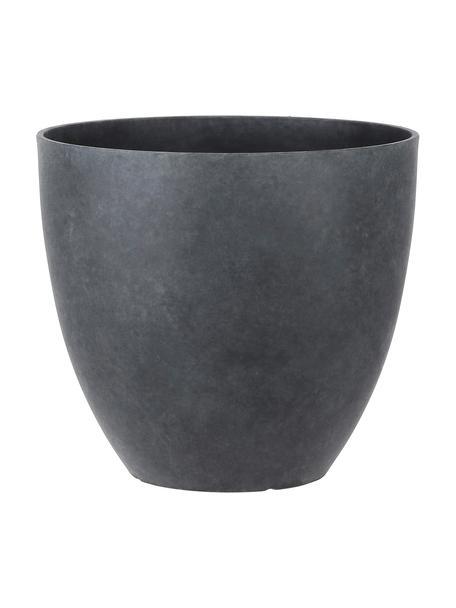 Maceta grande Bravo, Plástico, Gris antracita, Ø 37 x Al 33 cm