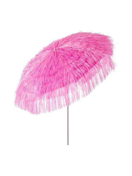 Roze parasol Hawaii met franjes, knikbaar, Ø 200 cm, Roze, Ø 200 x H 210 cm