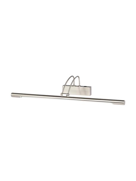 Applique a LED in argento Madrid, Lampada: acciaio satinato, Argento opaco, Larg. 68 x Alt. 12 cm