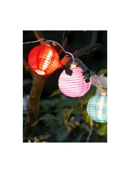 LED-Lichterkette Lampion, 380 cm, 10 Lampions, Lampions: Kunststoff, Mehrfarbig, L 380 cm
