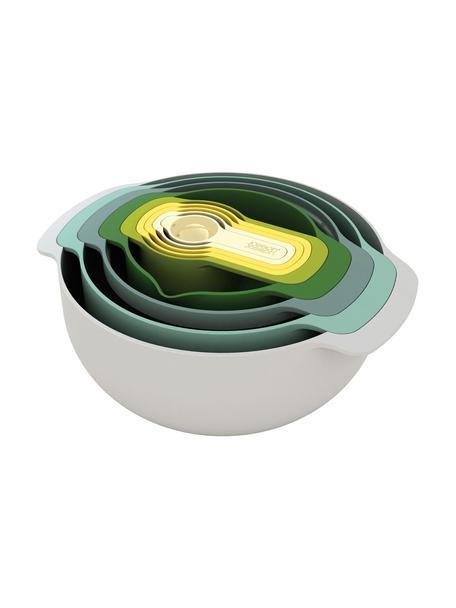 Schüssel- und Messlöffel-Set Nest Plus, 9-tlg., Polypropylen (BPA-frei), Edelstahl, Mehrfarbig, Sondergrößen