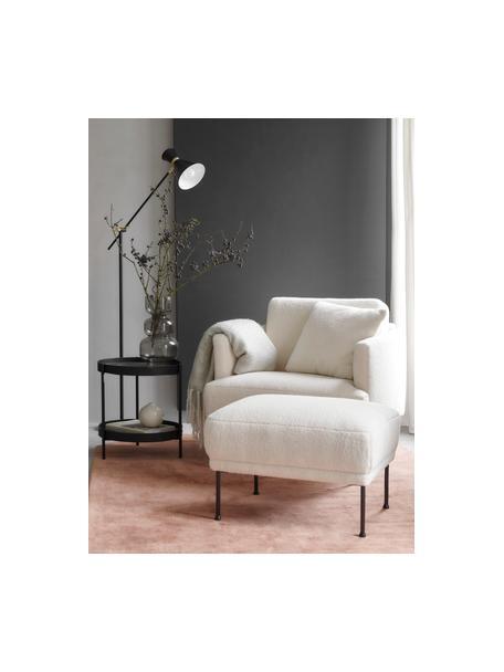 Lámpara de lectura de metal Audrey, estilo retro, Pantalla: metal con pintura en polv, Cable: cubierto en tela, Negro mate, An 90 x Al 145 cm