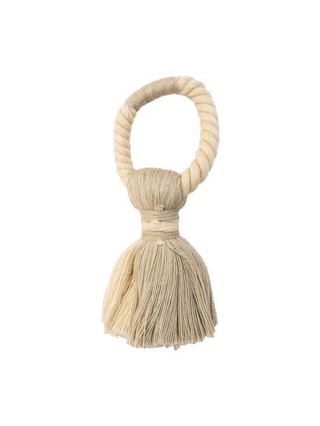 Servilleteros Sami, 4uds., 100%algodón, Beige, Ø 4 x Al 7 cm