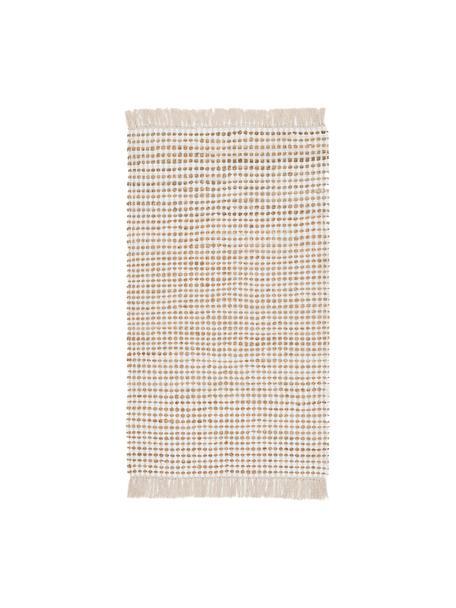 Dywan z bawełny/juty Fiesta, 55% bawełna, 45% juta, Biały, beżowy, S 90 x D 150 cm (Rozmiar XS)