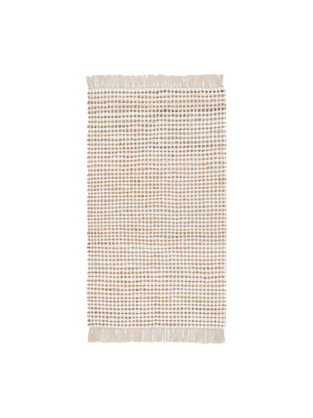 Tappeto in cotone/juta Fiesta, 55% cotone, 45% juta, Bianco, beige, Larg. 90 x Lung. 150 cm (taglia XS)