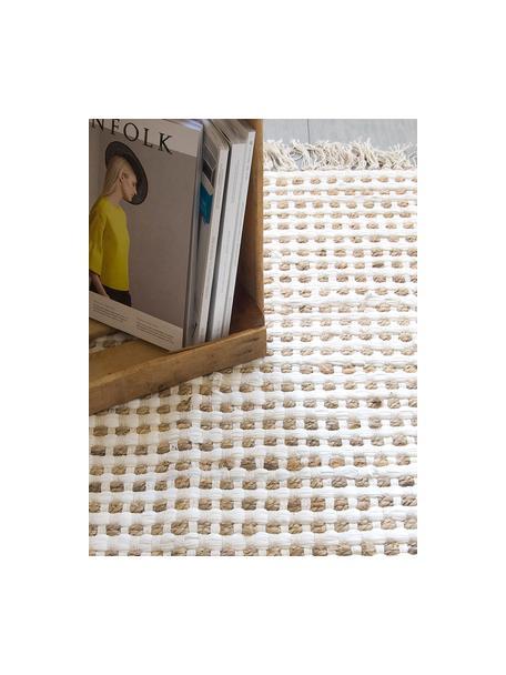 Teppich Fiesta aus Baumwolle/Jute, 55% Baumwolle, 45% Jute, Weiß, Beige, B 90 x L 150 cm (Größe XS)
