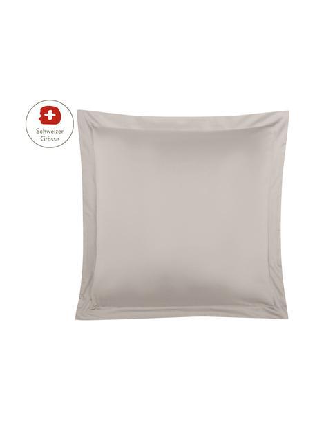 Baumwollsatin-Kissenbezug Premium in Taupe mit Stehsaum, 65 x 65 cm, Webart: Satin, leicht glänzend Fa, Taupe, 65 x 65 cm