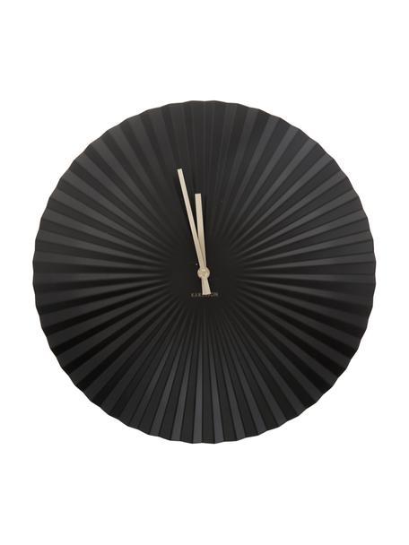 Wandklok Sensu, Wijzerplaat: gelakt staal, Zwart, Ø 40 cm