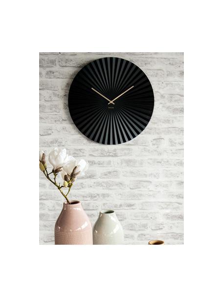 Orologio da parete Sensu, Quadrante: acciaio, verniciato, Puntatore: metallo, Nero, Ø 40 cm