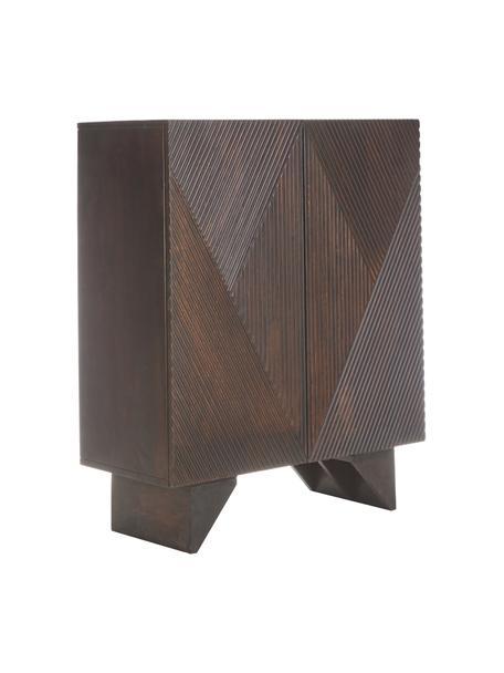 Highboard Louis aus massivem Mangoholz mit Türen, Mangoholz, 100 x 120 cm