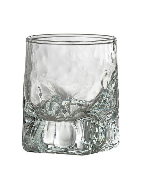 Schnapsgläser Zera mit unebener Form, 6 Stück, Glas, Transparent, Ø 5 x H 6 cm