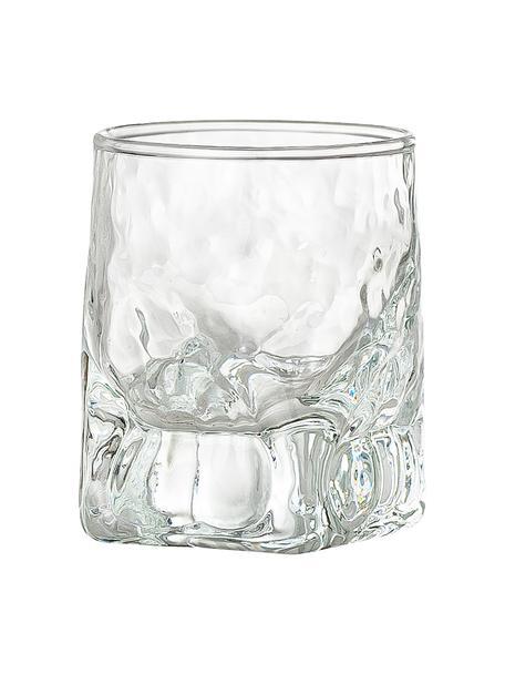 Vasos chupito irregulares Zera, 6uds., Vidrio, Transparente, Ø 5 x Al 6 cm