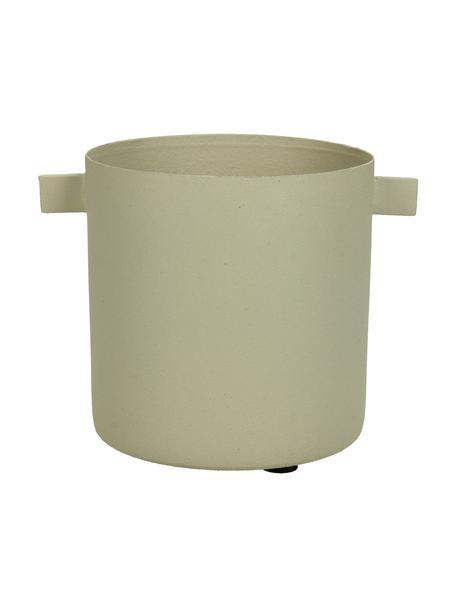 Portavaso piccolo di design Onyx, Metallo rivestito, Beige, Ø 9 x Alt. 12 cm