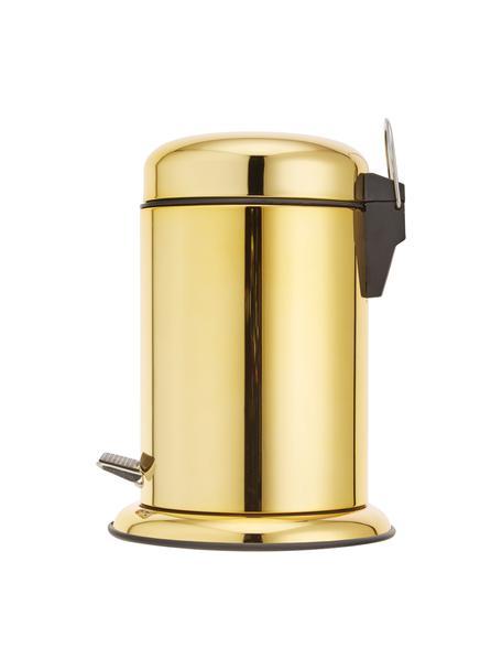 Kosmetikeimer Sam mit Pedal-Funktion, Goldfarben, Ø 22 x H 30 cm
