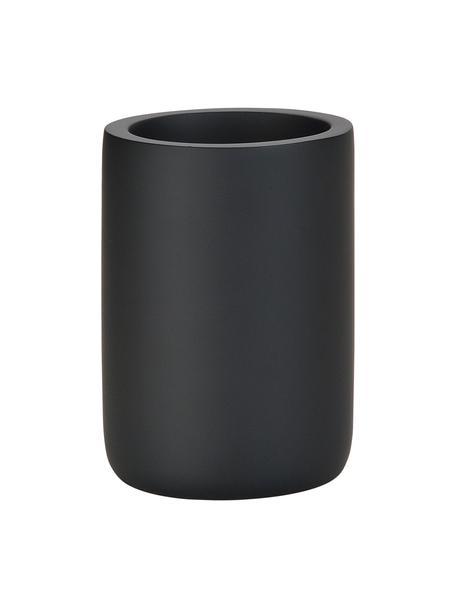 Kubek na szczoteczki Archway, Poliresing, Czarny, Ø 7 x W 10 cm